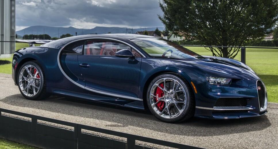 SYTER OVER AVGIFTENE: Den kinesisk milliardærsønn Ding Chen kjøpte nylig en slik superbil, en Bugatti Chiron, fra en canadisk forhandler og betalte med farens kredittkort - i overkant av 33 millioner kroner (5,1 millioner kanadiske dollar). Etterpå klagde han over avgiftene på seks millioner. Foto: Bugatti
