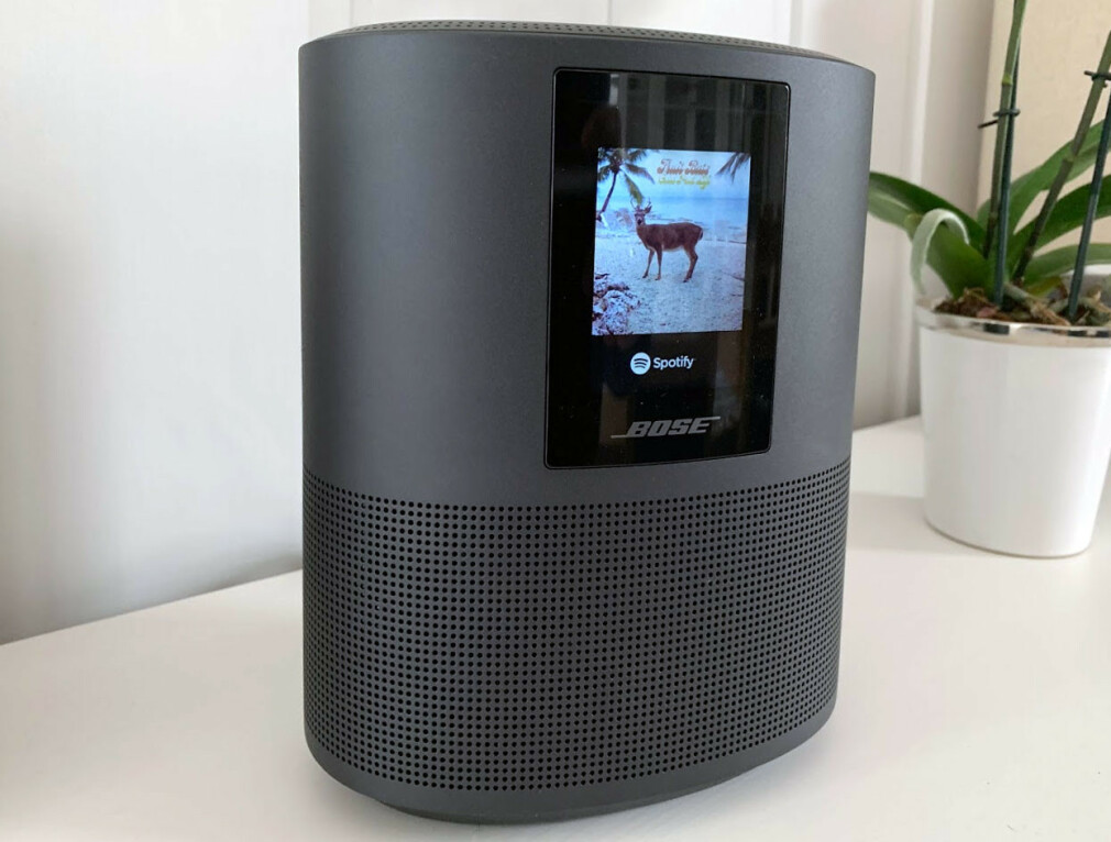 STOR LITEN HØYTTALER: Bose Home Speaker 500 er ikke særlig stor, men byr på stor lyd. Foto: Bjørn Eirik Loftås