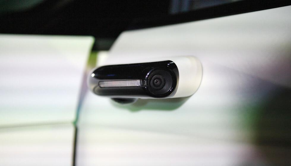 INTET SPEIL: Som Audi har gjort med sin e-Tron velger også Honda å gå for kamera, istedenfor sidespeil. Dette beholdes på produksjonsbilen, ifølge Honda. Foto: Øystein B. Fossum