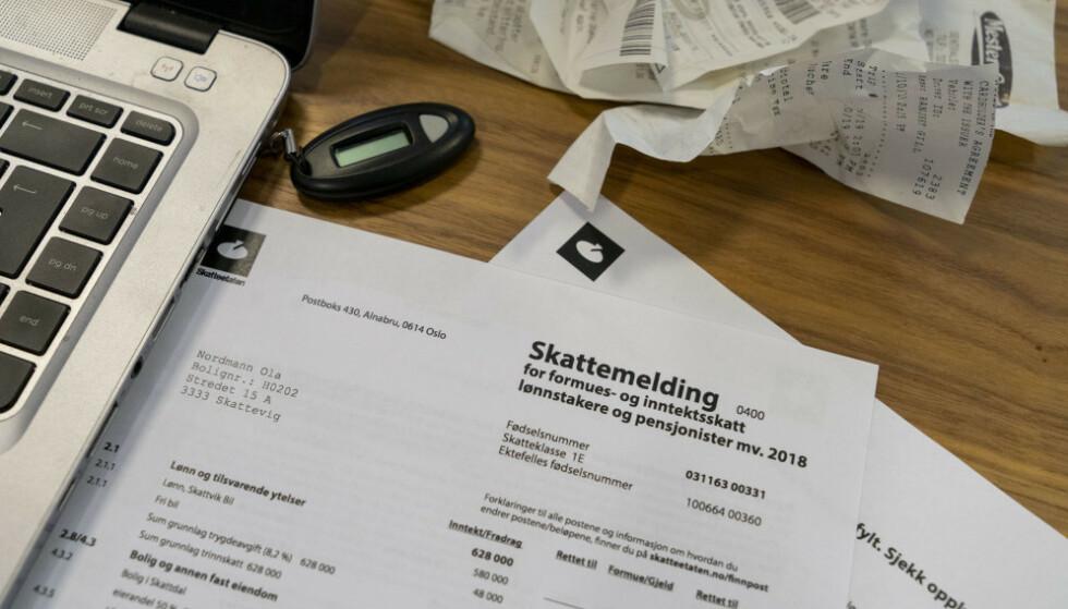 KLAR FOR SKATTEOPPGJØRET? Pass på at du har ført opp riktig kontonummer, så du unngår at pengene blir forsinket. Foto: Per Ervland