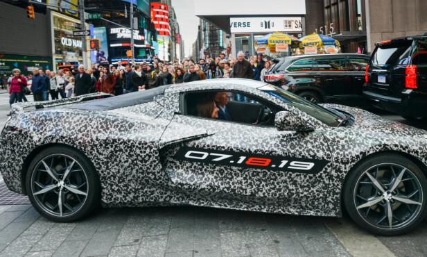 <strong>MIDT-MOTOR:</strong> For første gang får Corvette en midtplassert motor. Foto: GM