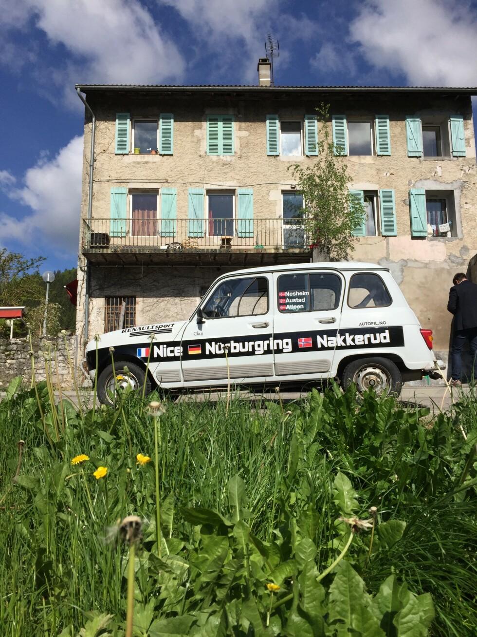 <strong>MUR:</strong> Etter en hel dag i Frankrike hadde vi sett nok eng og murbytt. Motorvei next. Foto: Rune M. nesheim