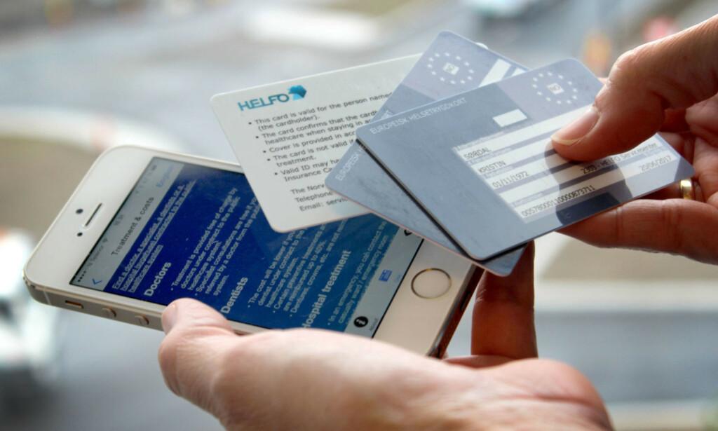 HUSK DETTE: Europeisk helsetrygkort kan hjelpe deg dersom du blir syk på reisen i Europa. Men du må huske å bestille det selv, fra Helsenorge.no. Foto: Ole Petter Baugerød Stokke