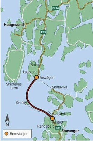 18,4 MILLIARDER: Bare i Rogfast nord for Stavanger, skal bilistene ut med minst 13,4 milliarder bom-kroner. Ill: Statens vegvesen