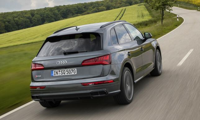 STAKATO: Den ser bra ut. Dessverre klarer ikke Audi å gjøre den så sportslig vi gjerne ville tro de ville gjøre den. Litt merkelig, for Audi har alltid laget lettkjørte, effektive og nøytrale biler, i hvert fall når de kombineres med Quattro-firehjulsdrift. Foto: Audi