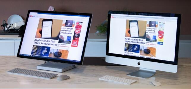 Det er moro å jobbe med så gode PC-er. Foto: Martin Kynningsrud Størbu