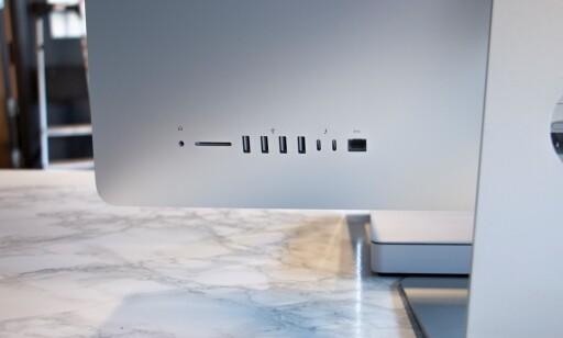 iMac-en har best utvalg av porter.