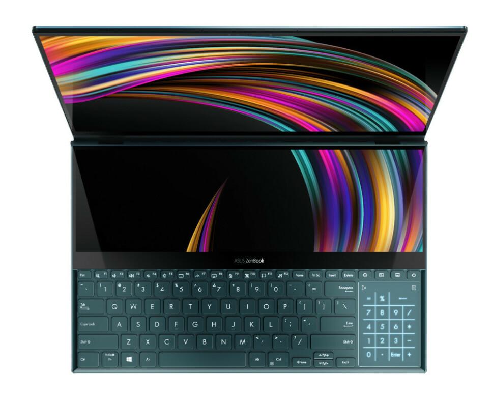 TO SKJERMER: Asus tar ScreenPad-konseptet til et nytt nivå. Foto: Asus