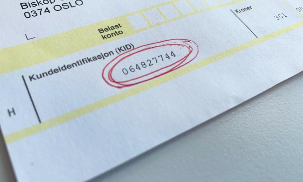 ORDENSTALL: KID-nummeret på fakturaen skal gjøre det enklere å holde styr på hvilke regninger som er betalt, men det er ikke påbudt å bruke KID-nummer. Foto: Eilin Lindvoll.