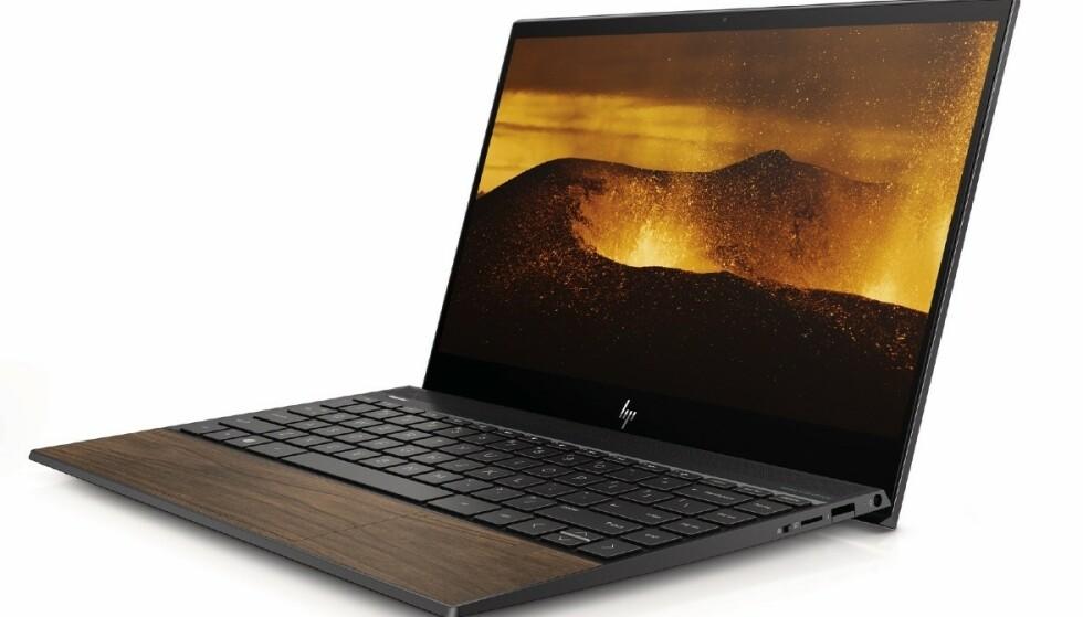 <strong>WOOD-SERIEN:</strong> HP lanserer en spesialutgave av sine Envy-PC-er med tredetaljer. Foto: HP