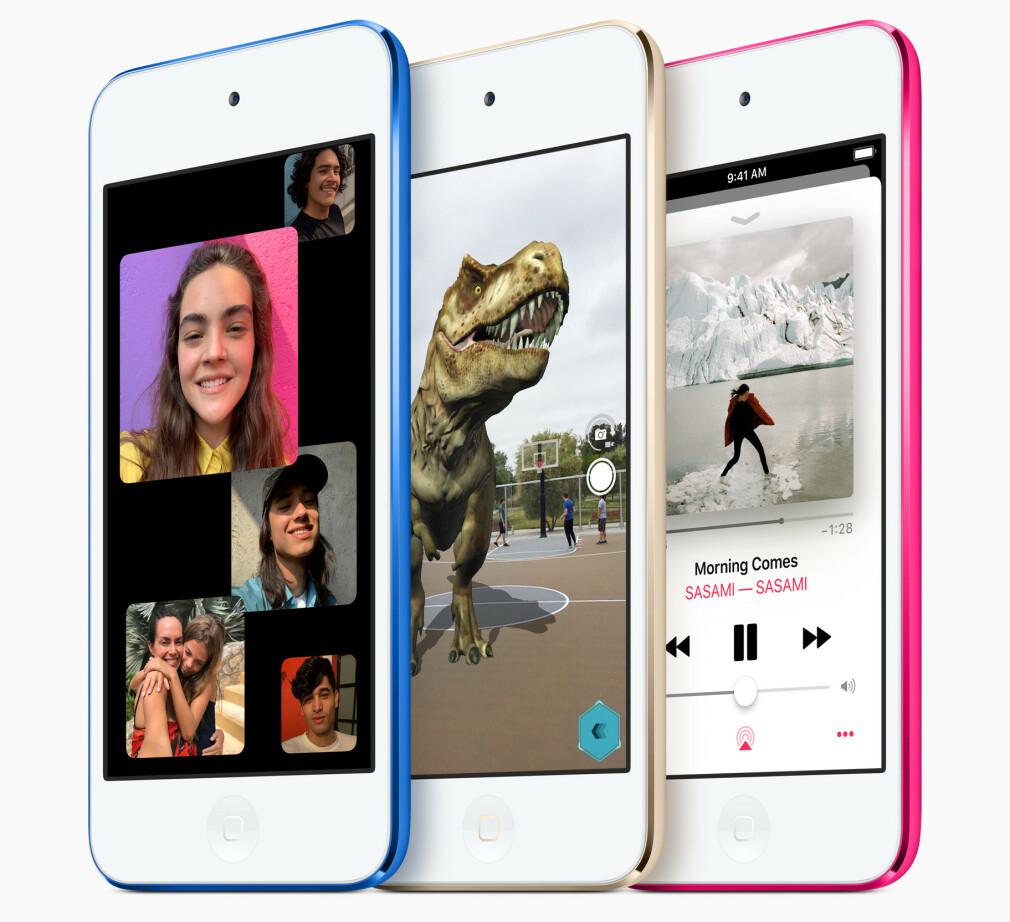 NY UTGAVE: iPod touch er den billigste veien inn i iOS-verden. Nå har Apple oppdatert den for første gang siden juli 2015. Foto: Apple