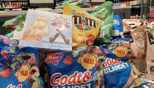 GODTERI: En del produkter lønner det seg å kjøpe på danske supermarkeder, fremfor på danskebåten. Foto: Kristin Sørdal