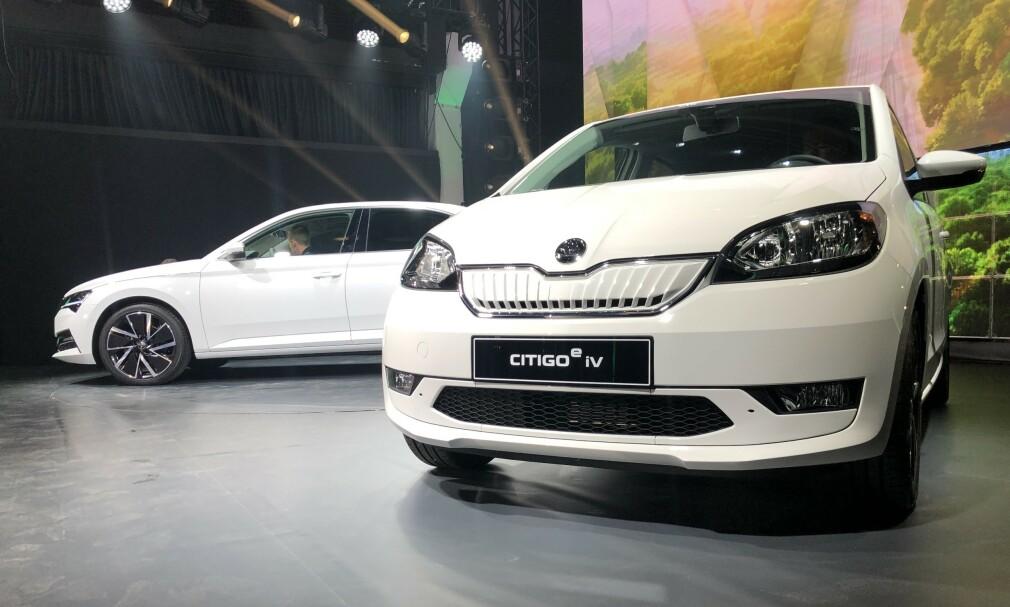 SKODA CITIGO E IV: Skodas første helelektriske bil er en kopi av Volkswagen e-Up. Foto: Skoda