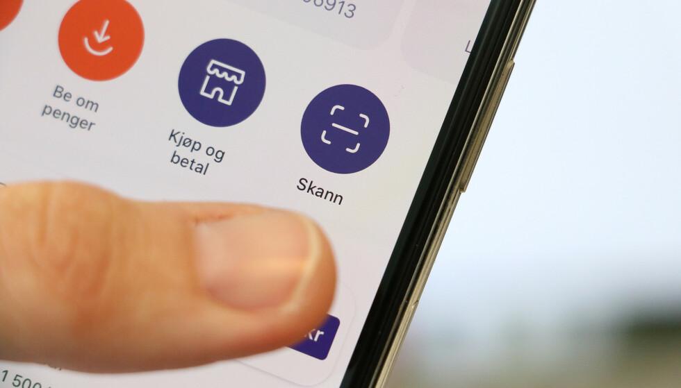 UNNGÅ TALL-STYR: Bruk Vipps til å skanne regningen din, så slipper du å taste inn lange konto- og KID-nummere. Foto: Kirsti Østvang