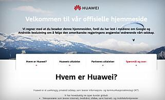 Slik ser Huaweis nyopprettede nettsted ut. Skjermbilde: Huaweimatters.com