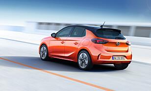 SAMME UTSEENDE: Den elektriske utgaven av nye Corsa, er helt lik bensinutgaven av utseende. Teknologien under panseret er imidlertid mer spennende. Foto: Martin Golka