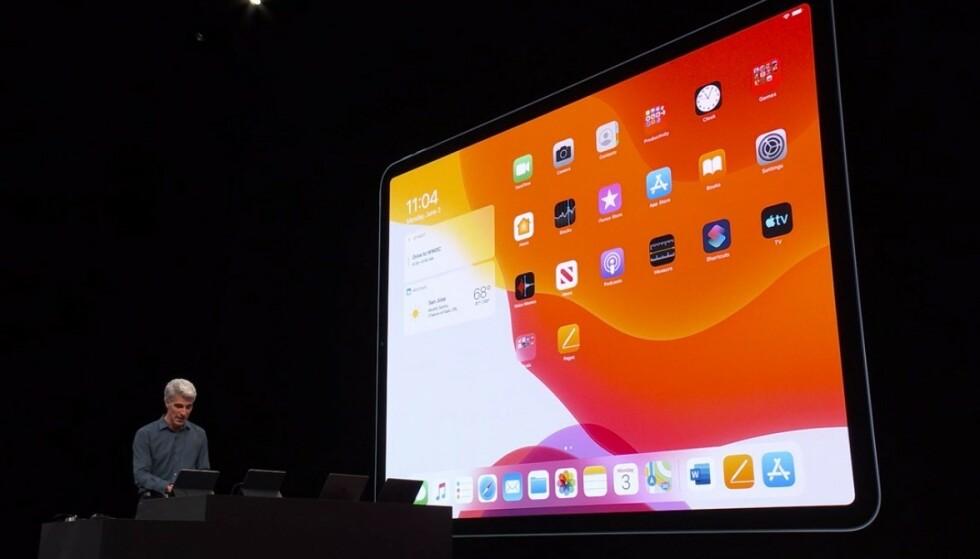 NY HJEMSKJERM: Slik ser hjemskjermen i iPadOS ut. Foto: Apple