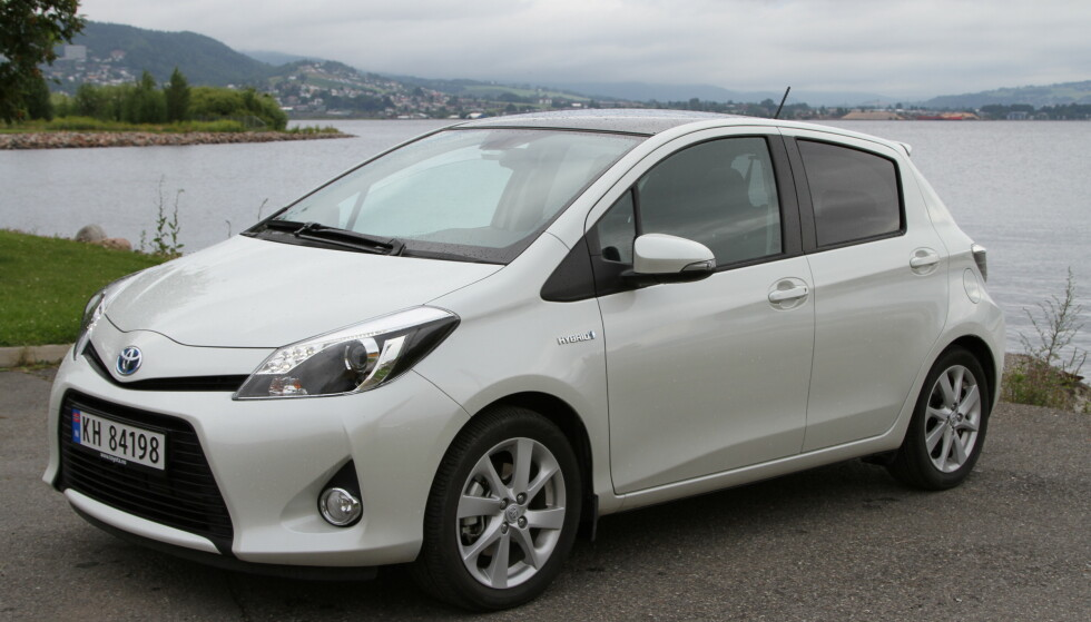FLEST YARIS: De fleste av Toyota-bilene som nå kalles tilbake for å bytte kollisjonspute, er Yaris. Foto: Rune Korsvoll