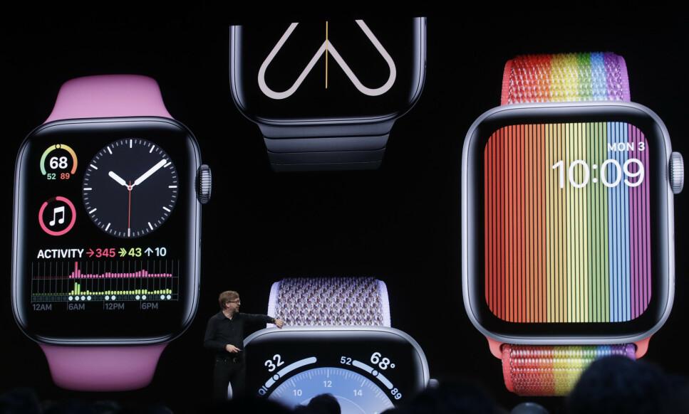 POPULÆR: Apple Watch er verdens mest populære smartklokke. Til høsten kommer en stor oppdatering. Foto: Mason Trinca/Reuters/NTB Scanpix