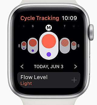 DETALJER: I tillegg til at du kan registrere at du har mensen, kan du også legge til hvor kraftig blødningen er. Foto: Apple