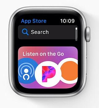 FÅR APP STORE: Snart vil du kunne laste ned appene rett på Apple Watch. Foto: Apple