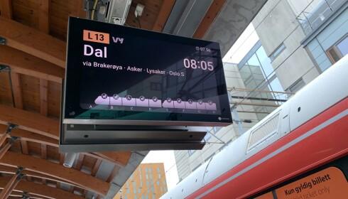 Slik er de nye skjermene ved sporene. Foto: Martin Kynningsrud Størbu