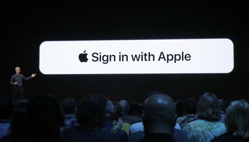 KOMMER SNART: Til sommeren begynner Apple å teste ut sin nye innloggingsfunksjon. Foto: Jeff Chui/AP/Reuters