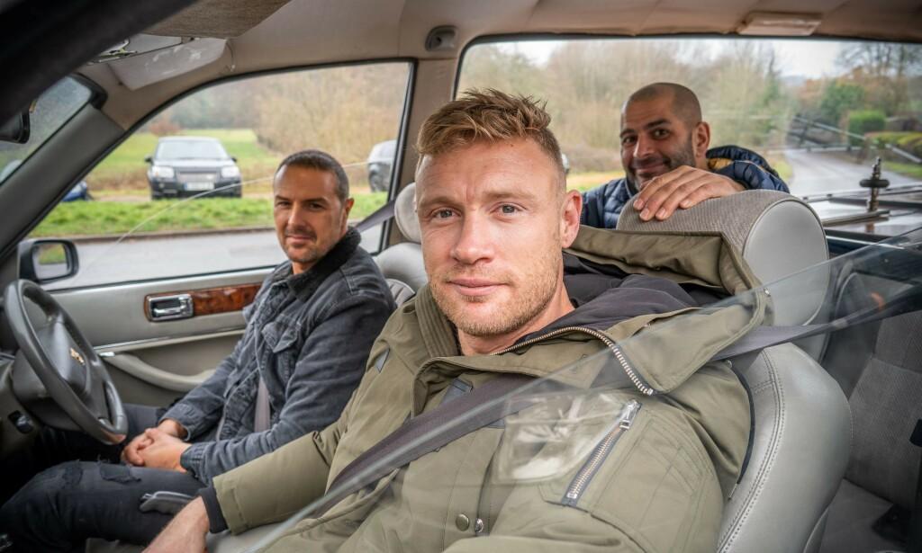 TOPP GEAR-TEAM: Paddy McGuinnes og Freddie Flintoff skal lage den 27. sesongen av Top Gear, sammen med Chris Harris. Foto: BBC