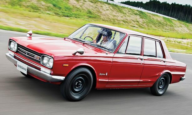 DEN FØRSTE: GT-R var tilgjengelig både som coupé og firedørs utgave og er et av de største ikonene i Japan. Foto: Nissan