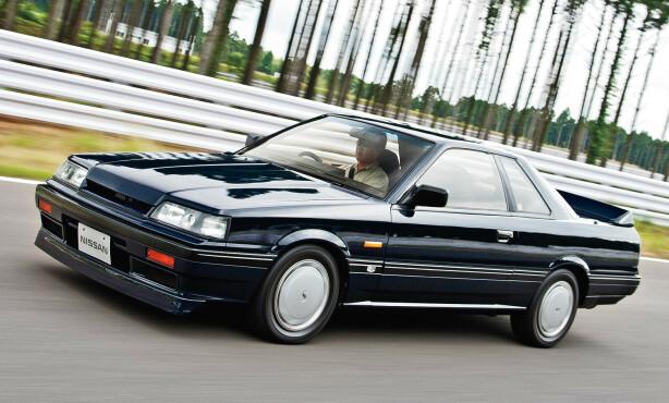 FØRSTE MODERNE: Skyline R31 var bilgjengelig både i sedan, hardtop sedan, coupe stasjonsvogn. Foto: Nissan