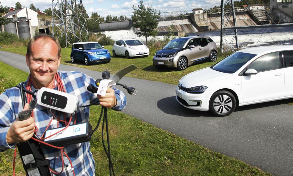 DE BESTE BRUKTE EL-BILENE: Kia Soul Electric, Nissan Leaf, BMW i3 og VW e-Golf har alle tatt Norge med spenning. Vi kårer det beste brukte elbil-kjøpet. Foto: Espen Stensrud
