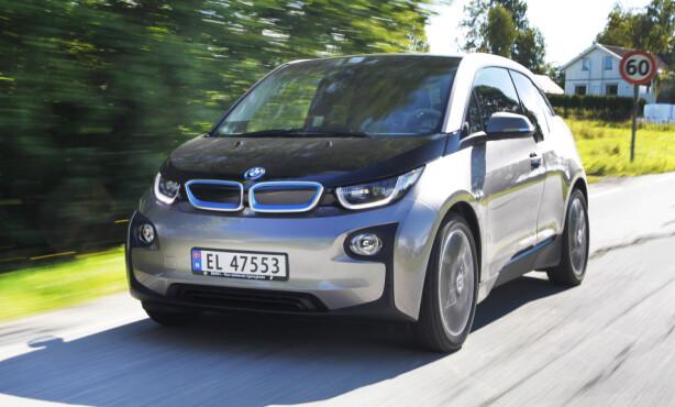 KUL: BMW i3 skiller seg ut – på alle måter. Foto: Espen Stensrud