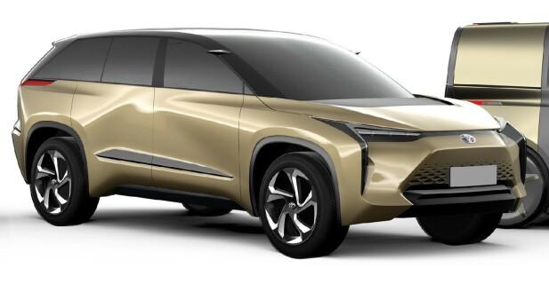 ER UNDER PLANLEGGING: Dette er en av ti nye elbiler som skal komme fra den japanske produsenten i løpet av de neste årene. Den kan bli den første modellen basert på plattformen som er under forberedelse i samarbeid med Subaru. Foto: Toyota