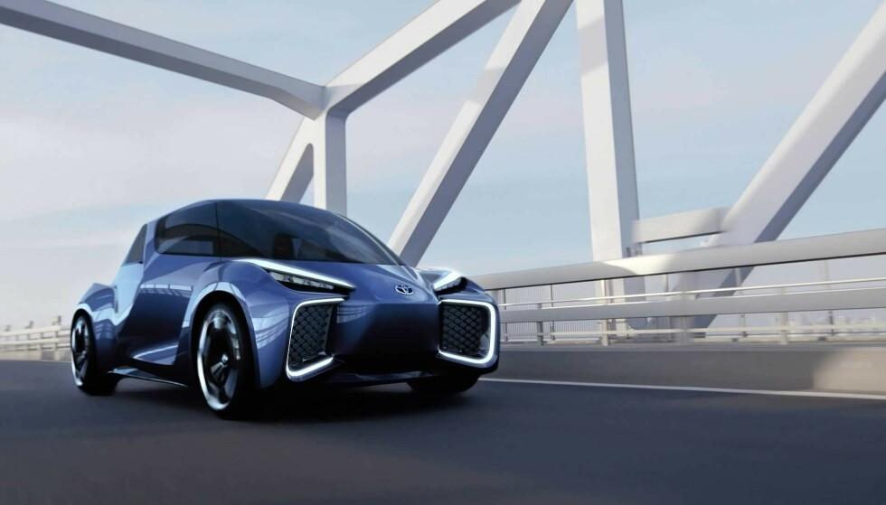 ROMVESEN? Nei, en kommende elbil fra Toyota - Rhombus, foreløpig som konseptbil. Foto: Toyota