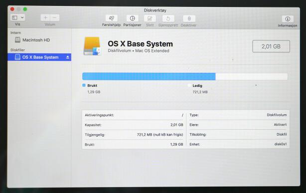 DOBBELTSJEKK: I Disktverktøy kan du se om den andre Mac-en er koblet til som eksterndisk. Foto: Kirsti Østvang