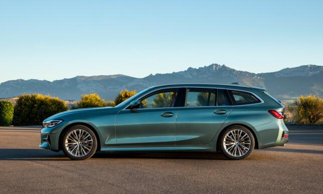 UNEKTELIG ELEGANT: De strukne linjene synes vi kler 3-serie Touring godt. Foto: BMW