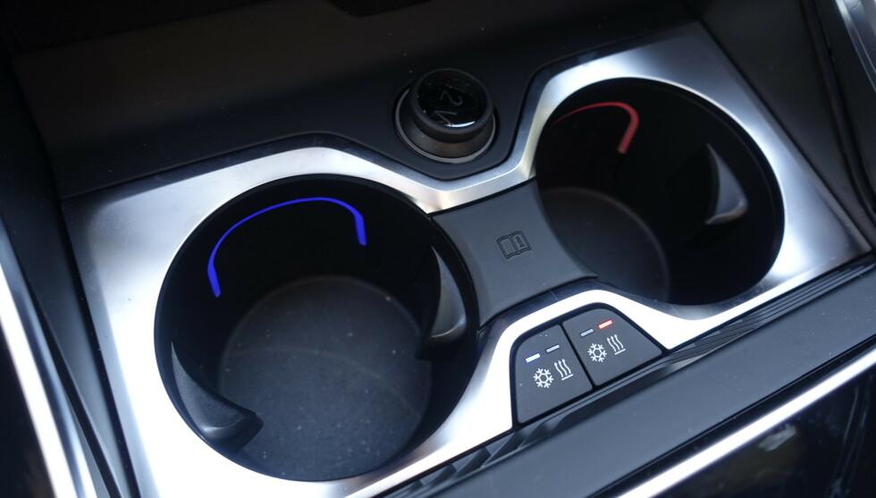VARME OG KULDE: Koppeholderne har både varming og kjøling. Foto: Rune M. Nesheim