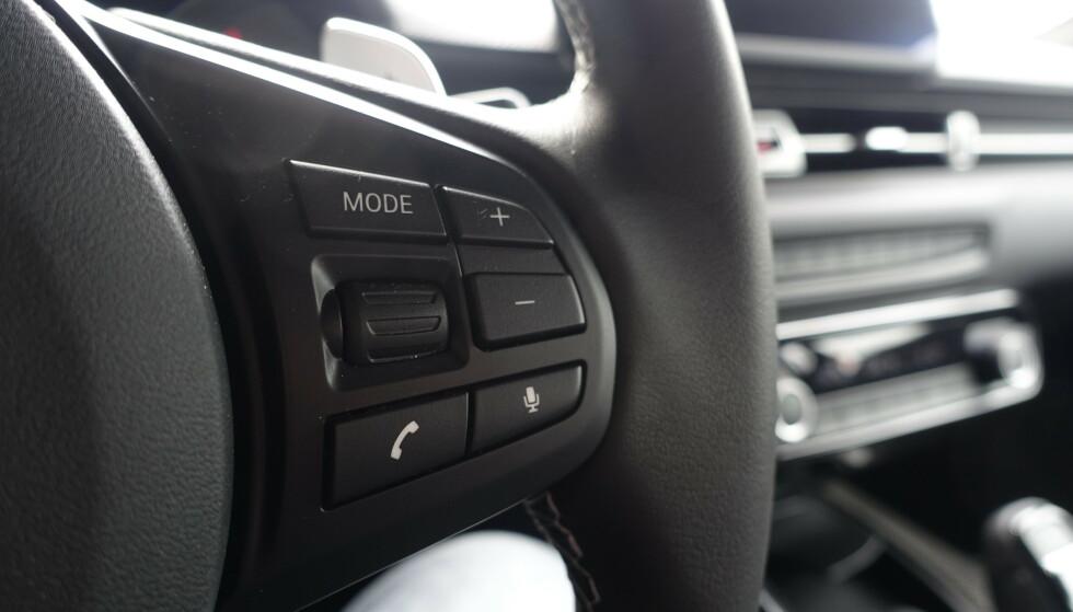 GAMMEL MORO: Knapper og betjening er fra forrige generasjon BMW, men føles egentlig ikke utdatert. Foto: Rune M. Nesheim