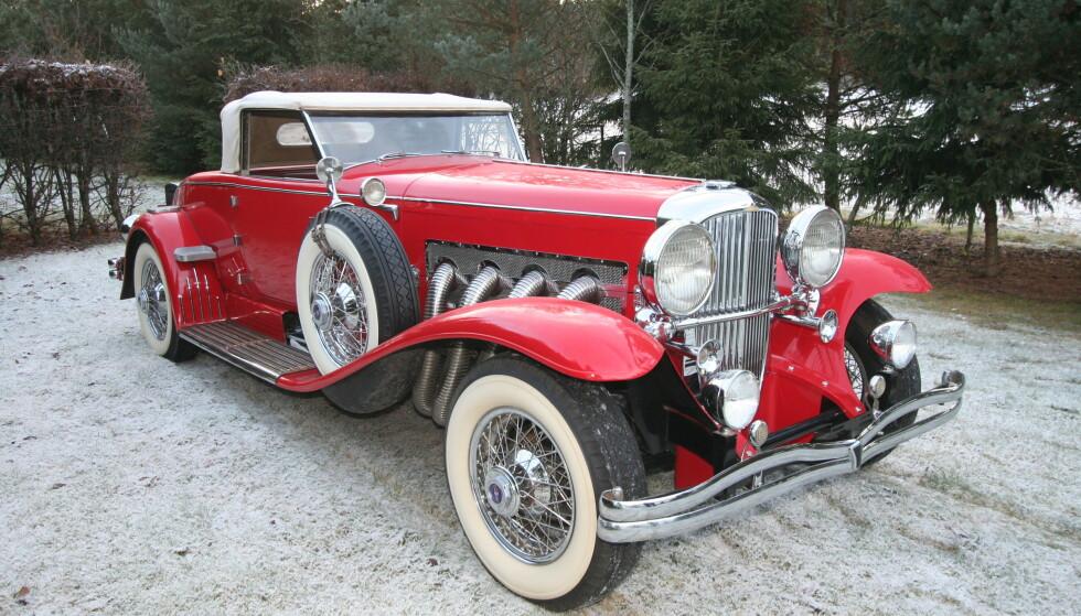 VAKKER: Linjemessig er det vanskelig å finne en skjønnere bil enn Duesenberg Model J. Foto: Lord Arnstein Landsem