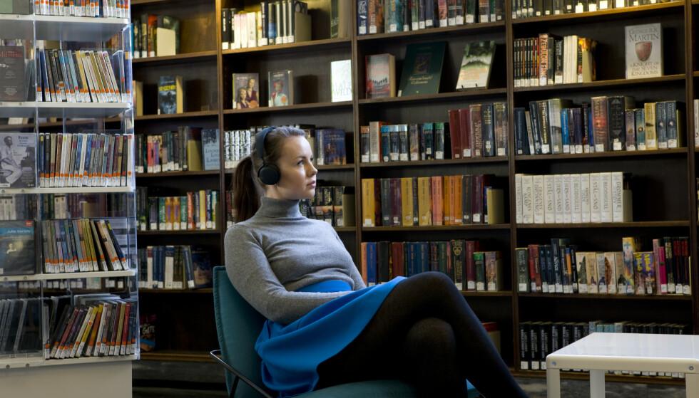 UTELEIE AV LYDBØKER: Snart blir e-lydbøker tilgjengelig på folkebibliotekene. Foto: Thomas Brun/NTB Scanpix