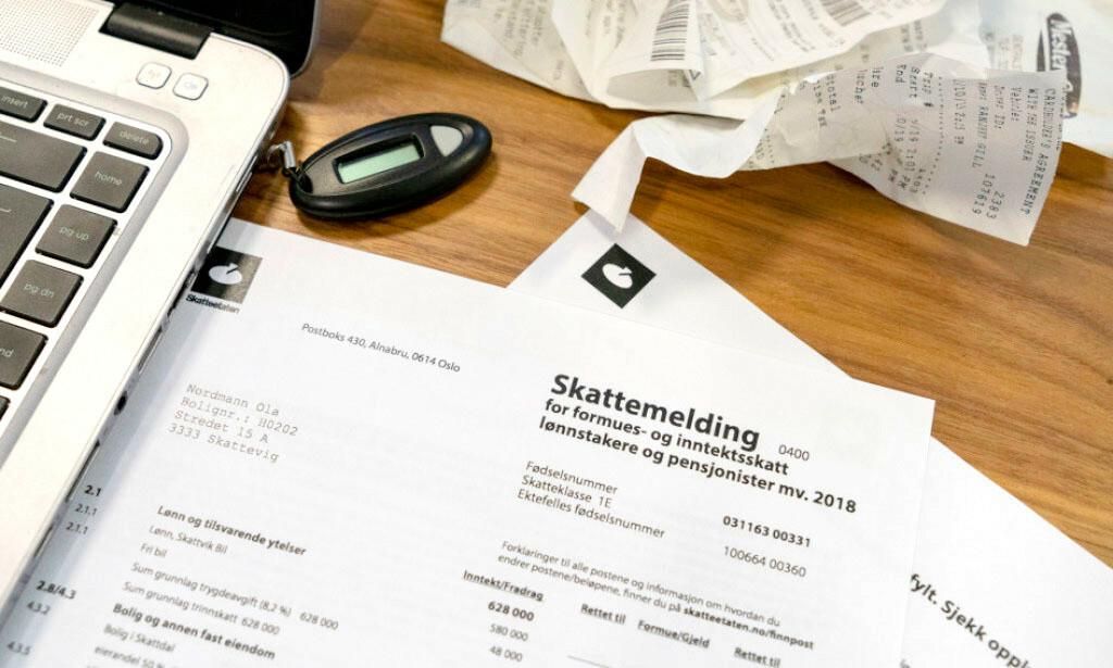 SKATTEOPPGJØRET 2019: Torsdag sender Skattemeldingen ut de første skatteoppgjørene. Foto: Per Ervland