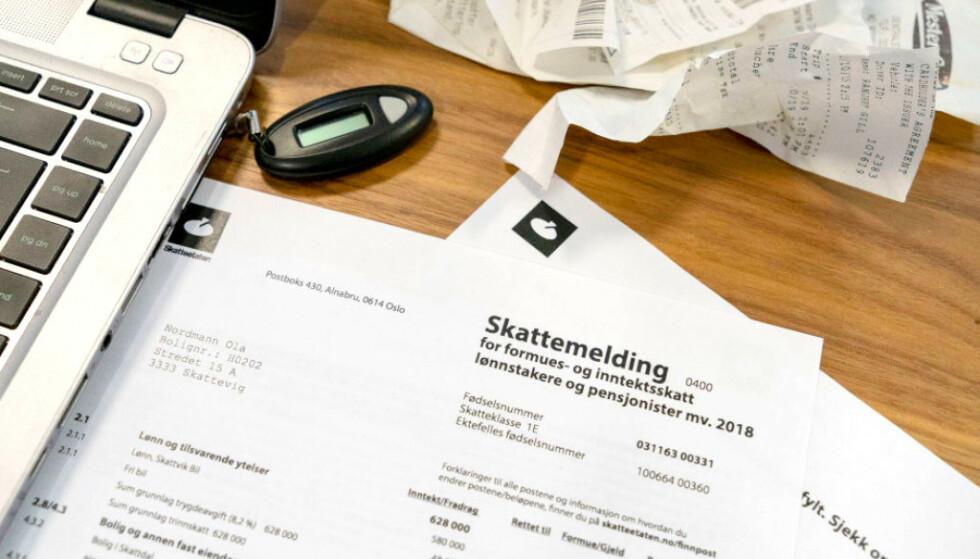 <strong>SKATTEOPPGJØRET 2019:</strong> Torsdag sender Skattemeldingen ut de første skatteoppgjørene. Foto: Per Ervland