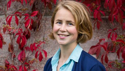Anja Bakken Riise, leder i Framtiden, heier på Alfas nye turstøvel med utskiftbare deler. Foto: Mariam Butt/NTB Scanpix