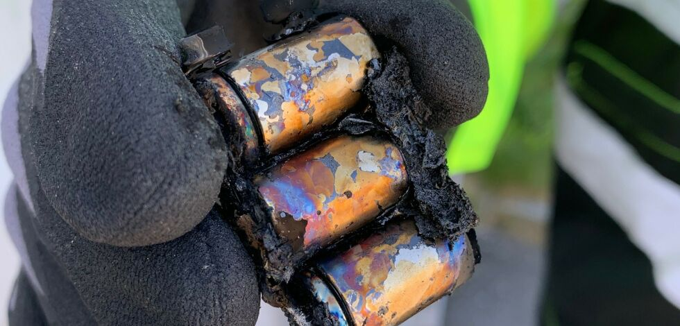 image: Batterier kan være rene brannfeller