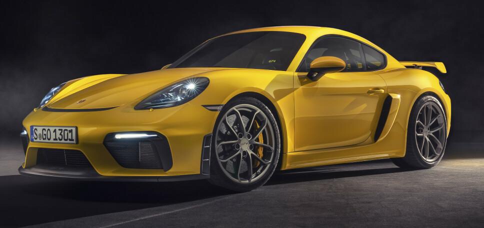 GT4 TILBAKE: Cayman GT4 ble introdusert i forrige generasjon med 3,8 liters boxersekser. Her er etterkommeren. Foto: Porsche.
