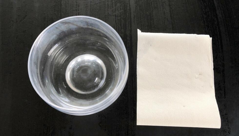 Papirtrikset skal kjøle ned drikken på få minutter