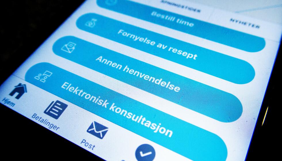 E-konsultasjon med legen? Generelt er ønsket at alle pasienter skal kunne benytte seg ac e-konsultasjon med fastlegen, men nå ønsker man å finne ut om dette er et godt alternativ også ved sykemelding. Foto: NTB Scanpix