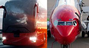 image: Buss versus fly fra Køben til Oslo