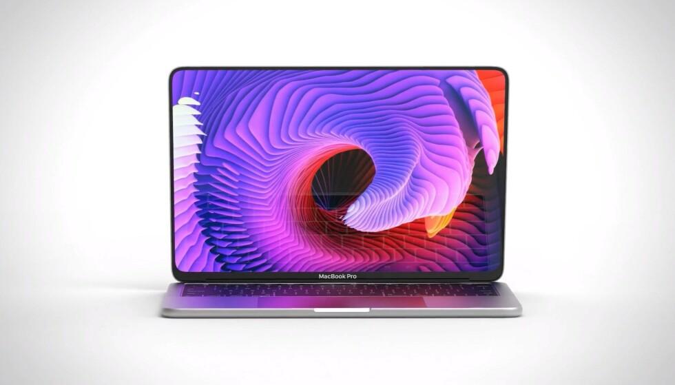 MACBOOK PRO 16: Er det slik den angivelige MacBook Pro-modellen på 16 tommer blir? Konseptbildet er laget av Viktor Kadar. Foto: Viktor Kadar