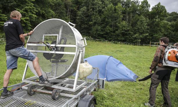 image: Vi tok med vindmaskinen og testet åtte fjelltelt
